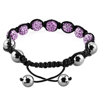New Year Deals - ALEXANDRITE AMETHYST CRYSTAL STONE BALLS SHAMBALLA BEADED INSPIRED ADJUSTABLE BRACELETS LACE BRACELET CHOOSE YOUR COLOR alternate image 1.