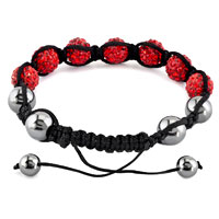 New Year Deals - SHAMBHALA BRACELET LIGHT RED CRYSTAL STONE BALLS BEADED alternate image 1.