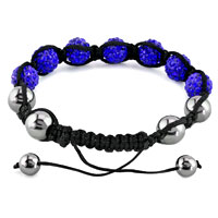 New Year Deals - SHAMBHALA BRACELET SAPPHIRE BLUE CRYSTAL STONE BALLS BEADED alternate image 1.