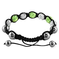 New Year Deals - SHAMBHALA BRACELET CLEAR WHITE PERIDOT GREEN CRYSTAL STONE alternate image 1.