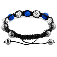 New Year Deals - SHAMBHALA BRACELET CLEAR WHITE SAPPHIRE BLUE CRYSTAL STONE alternate image 1.