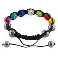 New Year Deals - SHAMBHALA BRACELET MULTICOLOR CRYSTAL STONE BALLS BEADED alternate image 1.