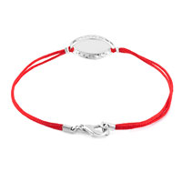 Bracelets - EVIL EYES BRACELETS SILVER LOBSTER CLASP VERMEIL RED DOUBLE STRANDS STRING SIDEWAYS ICED EVIL EYE BRACELET alternate image 1.