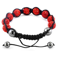 KSEB SHEB Items - SHAMBHALA BRACELETS GARNET RED CRYSTAL STONE BALLS ADJUSTABLE LACE BRACELET alternate image 1.