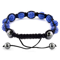 KSEB SHEB Items - SHAMBHALA BRACELETS SAPPHIRE BLUE CRYSTAL STONE BALLS ADJUSTABLE LACE BRACELET alternate image 1.