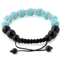 KSEB SHEB Items - SHAMBALLA BRACELET OCEAN BLUE SWAROVSKI ELEMENTS CZ CRYSTAL STONE DISCO BALLS BEADED BRACELETS alternate image 1.