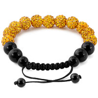 KSEB SHEB Items - TOPAZ YELLOW SHAMBALLA BRACELET SWAROVSKI CRYSTAL CZ STONE DISCO BALLS BEADED BRACELETS alternate image 1.