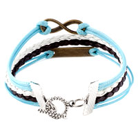 Bracelets - INFINITY BRACELETS SIDEWAYS LOVE COLOR BRAIDED LEATHER ROPE BANGLE BRACELET alternate image 2.