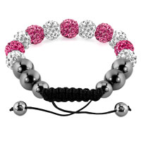 KSEB SHEB Items - SHAMBALLA BRACELET LIGHT PINK CHARM CRYSTAL DISCO BALLS ADJUSTABLE alternate image 1.