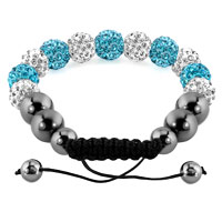 KSEB SHEB Items - SHAMBALLA BRACELET OCEAN BLUE CHARM CRYSTAL DISCO BALLS ADJUSTABLE alternate image 1.