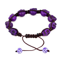 Man's Jewelry - SHAMBALLA COLOR CRYSTAL DISCO BALL HALLOWEEN SKULL BEADED BRACELET alternate image 1.