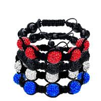 Bracelets - SHAMBHALA BRACELET RED DISCO BALLGIFT WOMEN SWAROVSKI CRYSTAL alternate image 1.