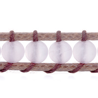 Gifts Center - BRAND NEW CLASSIC PINK AGATE BEADS WRAP BRACELET ON BROWN COTTON alternate image 1.