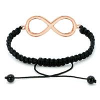 Bracelets - INFINITY BRACELET CLEAR CRYSTAL SIDEWAYS ADJUSTABLE LACE BRACELET alternate image 1.