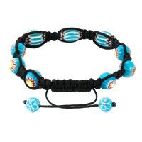 Bracelets - SHAMBALLA BRACELET FAD MACRAME BLING JEWELRY BLUE SUNFLOWER BEADS BRACELETS alternate image 1.