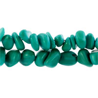 New Year Deals - CHIP STONE BRACELETS GENUINE TURQUOISE GEMSTONE NUGGET CHIPS CHUNKY STRETCH BRACELET FOR WOMEN alternate image 2.