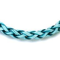 Bracelets - FASHION BLUE WOVEN ROPE CLASP BRACELET alternate image 1.