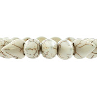 New Year Deals - GENUINE GRAY GEMSTONE CHIPS CHUNKY STRETCH BRACELET alternate image 1.