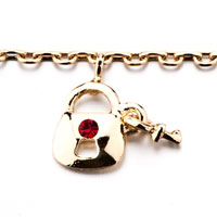 New Year Deals - PURSE HANDBAG ANKLE BRACELET RED CRYSTALS ANKLET LOBSTER CLASP alternate image 1.