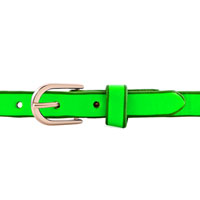 Man's Jewelry - STAINLESS STEEL STUDDED PERIDOT GREEN LEATHER BRACELET alternate image 1.