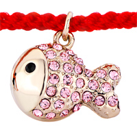 Keywords - RED COTTON CHAIN DANGLE ROSE GOLD FISH OCTOBER BIRTHSTONE LIGHT SWAROVSKI PINK CRYSTAL CHARMS LOBSTER CLASP EXTEND BRACELETS alternate image 1.