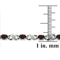 Bracelets - RED DIAMOND CUBIC ZIRCONIA TENNIS ACCENT INFINITY BRACELET alternate image 2.