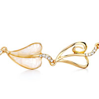 Bracelets - ALTERNATE GOLD HEART SHELL PEARL LOBSTER CLASP EXTEND BRACELETS alternate image 1.
