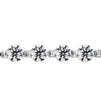 Bracelets - APR BIRTHSTONE CLEAR WHITE CRYSTAL LOVE BRACELET alternate image 1.