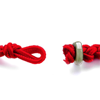 Bracelets - RED WOVEN COTTON ARMY GREEN BOULDER BRACELET alternate image 1.