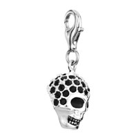 Sterling Silver Jewelry - BLACK 925  STERLING FLOWER LINK DANGLE EUROPEAN BEADS FIT ALL BRANDS alternate image 1.