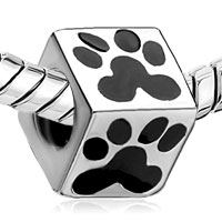 Charms Beads - SILVER PLATED EUROPEAN BEAD CHARMS PUMA FOOTPRINT CHARMS BRACELETS alternate image 1.