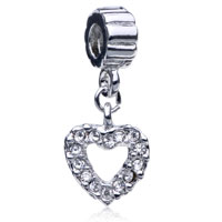Charms Beads - HEART FIT ALL BRANDS DANGLE EUROPEAN BEADS CHARMS BRACELETS alternate image 1.