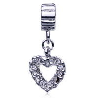 Charms Beads - HEART FIT ALL BRANDS DANGLE EUROPEAN BEADS CHARMS BRACELETS alternate image 2.