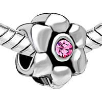 Charms Beads - SILVER PLATED DAISY FLOWER CHARMS BRACELETS PURPLE RHINESTONE alternate image 1.