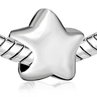 Charms Beads - SILVER PLATED STAR EUROPEAN BEAD CHARMS INFANT CHARMS BRACELETS alternate image 1.