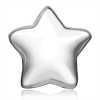 Charms Beads - SILVER PLATED STAR EUROPEAN BEAD CHARMS INFANT CHARMS BRACELETS alternate image 2.