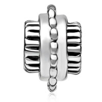 European Beads - CYLINDRICAL SHAPED BIKE WHEEL SILVER PLATED BEADS CHARMS BRACELETS alternate image 2.