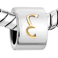 Charms Beads - CYLINDRICAL SHAPED LETTER BRACELET CHARM INITIAL E CHARM ALPHABET BEAD alternate image 1.