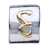 Charms Beads - CYLINDRICAL SHAPED LETTER BRACELET CHARM INITIAL E CHARM ALPHABET BEAD alternate image 2.
