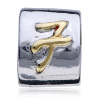 Charms Beads - LETTER BRACELET CHARMS INITIAL F ALPHABET ALPHABET EUROPEAN BEAD alternate image 2.