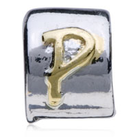 Charms Beads - SILVER LETTER BRACELET CHARM INITIAL P CHARM ALPHABET EUROPEAN BEAD alternate image 2.