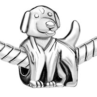 Charms Beads - SILVER PLATED CUTE DOG CHARM BRACELET EUROPEAN BEAD CHARM BRACELET alternate image 1.