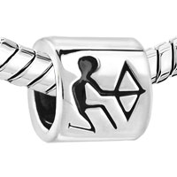 Charms Beads - SILVER HOROSCOPE ZODIAC SAGITTARIUS EUROPEAN BEAD CHARMS BRACELETS alternate image 1.