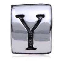 Charms Beads - SILVER PLATED LETTER BRACELET CHARM INITIAL Y ALPHABET EUROPEAN BEAD alternate image 2.