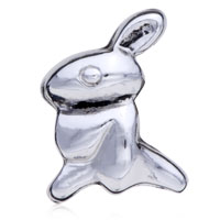 - SILVER TONE RABBIT BEADS alternate image 1.