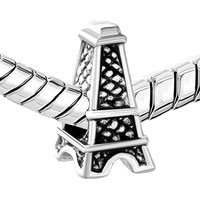 European Beads - MOTHERS DAY GIFTS EIFFEL TOWER FIT ALL BRANDS SILVER PLATED BEADS CHARMS BRACELETS alternate image 1.