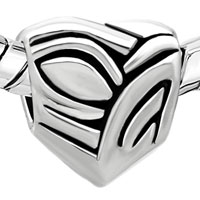 European Beads - AUSTRIAN HEART ALL BRANDS EURO LOVE SILVER PLATED BEADS CHARMS BRACELETS alternate image 1.
