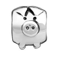 - SILVER TONE CUTE PIG alternate image 1.