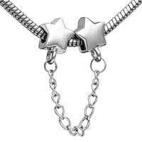 Charms Beads - STAR HEAD DANGLE LINK CHARMS FOR BRACELETS CHARM EUROPEAN BEAD alternate image 1.