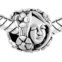 European Beads - FLORA GODDESS SILVER PLATED BEADS CHARMS BRACELETS alternate image 1.